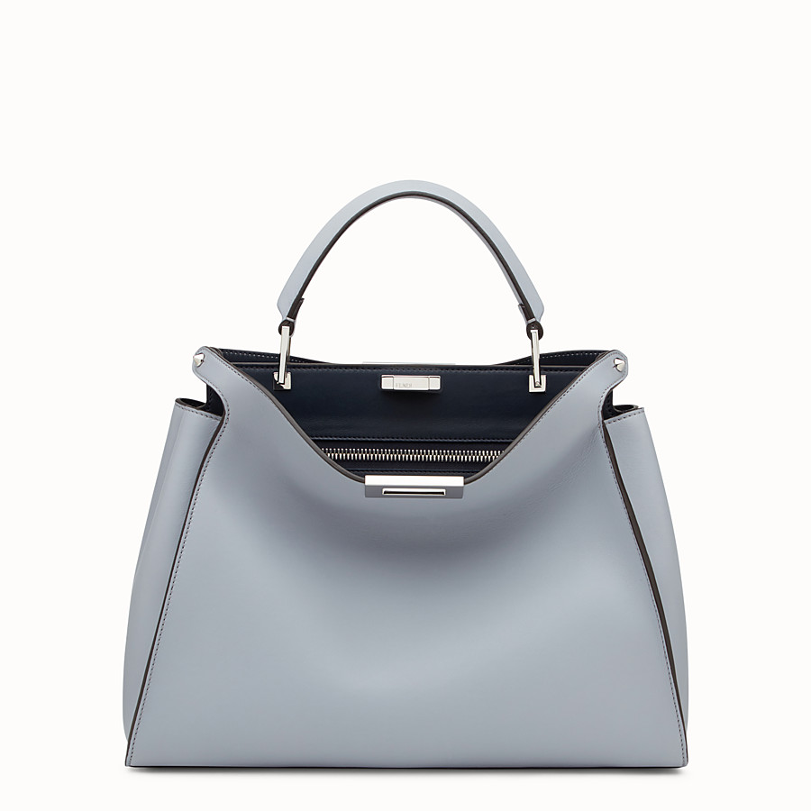 FENDI PEEKABOO ESSENTIAL - Slate and dark blue leather handbag - view 1 detail