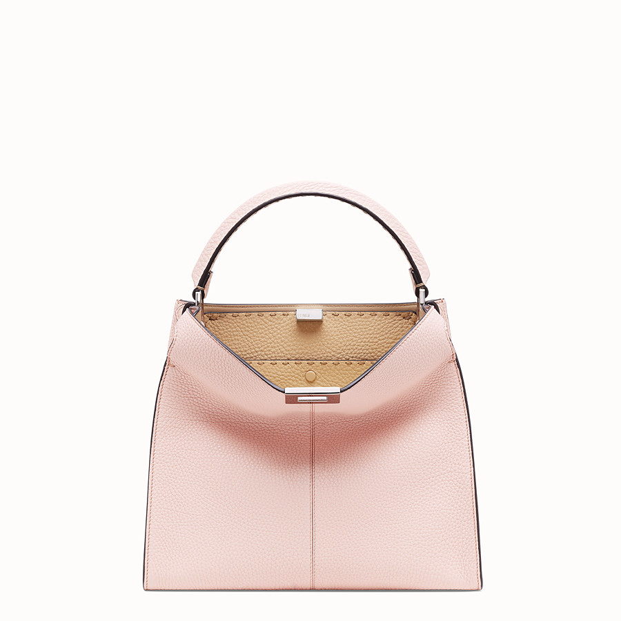 FENDI PEEKABOO X-LITE MEDIUM - Pink leather bag - view 2 detail