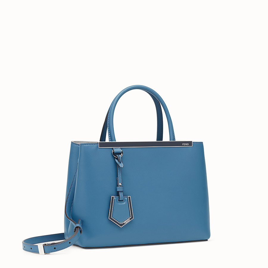 FENDI PETITE 2JOURS - Blue leather bag - view 2 detail