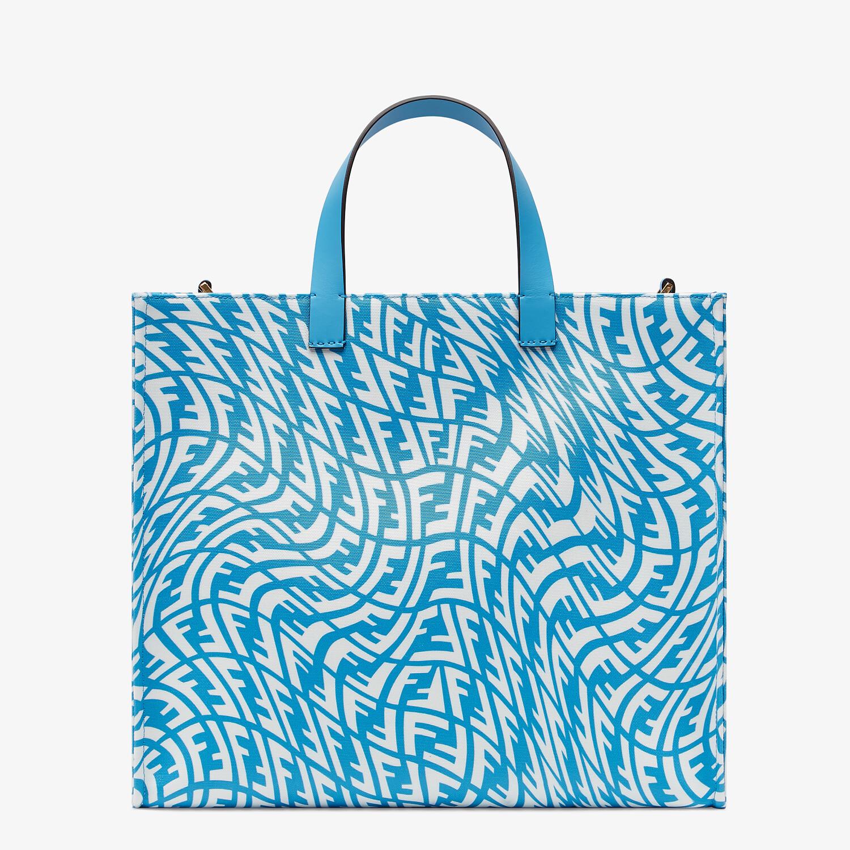 FENDI SHOPPER - Blue glazed canvas bag - view 1 detail