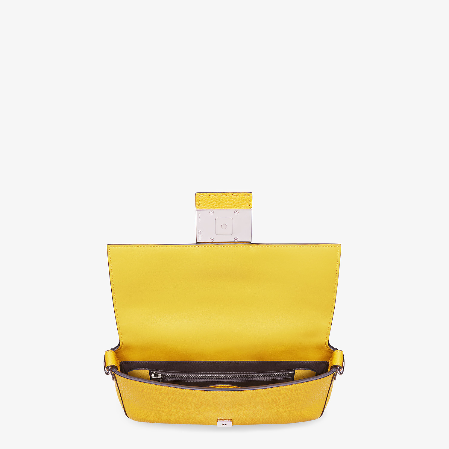 FENDI BAGUETTE - Yellow leather bag - view 5 detail