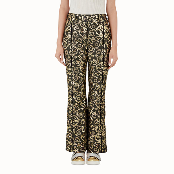 FENDI SKI TROUSERS - Padded trousers in gold brocade - view 1 small thumbnail