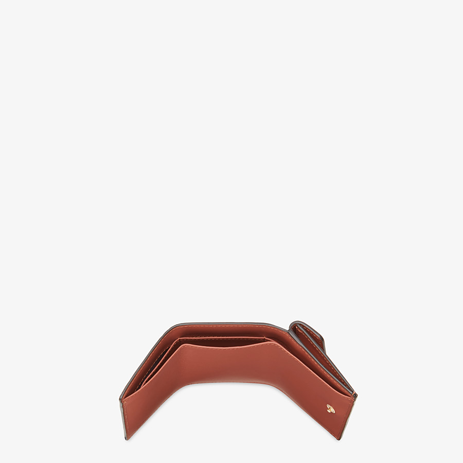 FENDI MICRO TRIFOLD - Brown leather wallet - view 4 detail