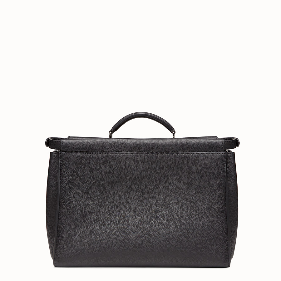 FENDI PEEKABOO REGULAR - in black Roman leather - view 3 detail