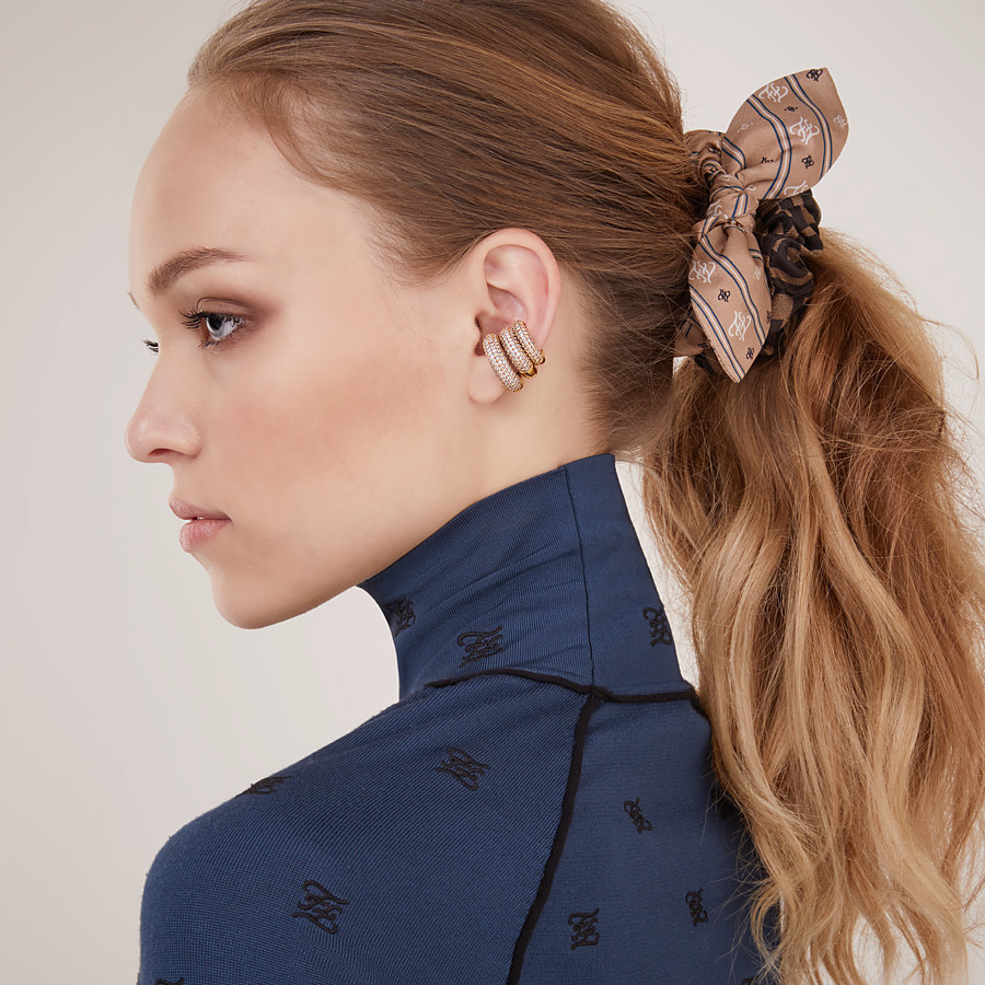 FENDI FENDIOOPS EARRING - Gold-colour earring - view 2 detail