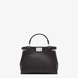 FENDI PEEKABOO ICONIC MINI - Black leather bag - view 4 thumbnail
