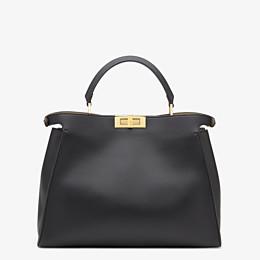 FENDI PEEKABOO ICONIC ESSENTIAL - Black and beige leather handbag - view 3 thumbnail