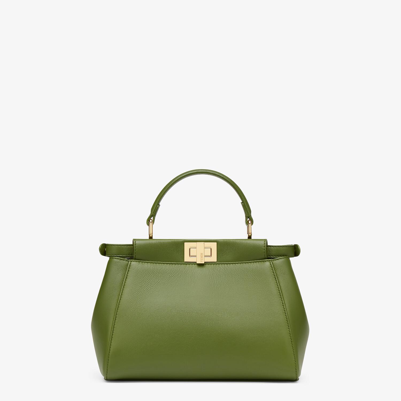 FENDI PEEKABOO MINI - Green nappa leather bag - view 4 detail