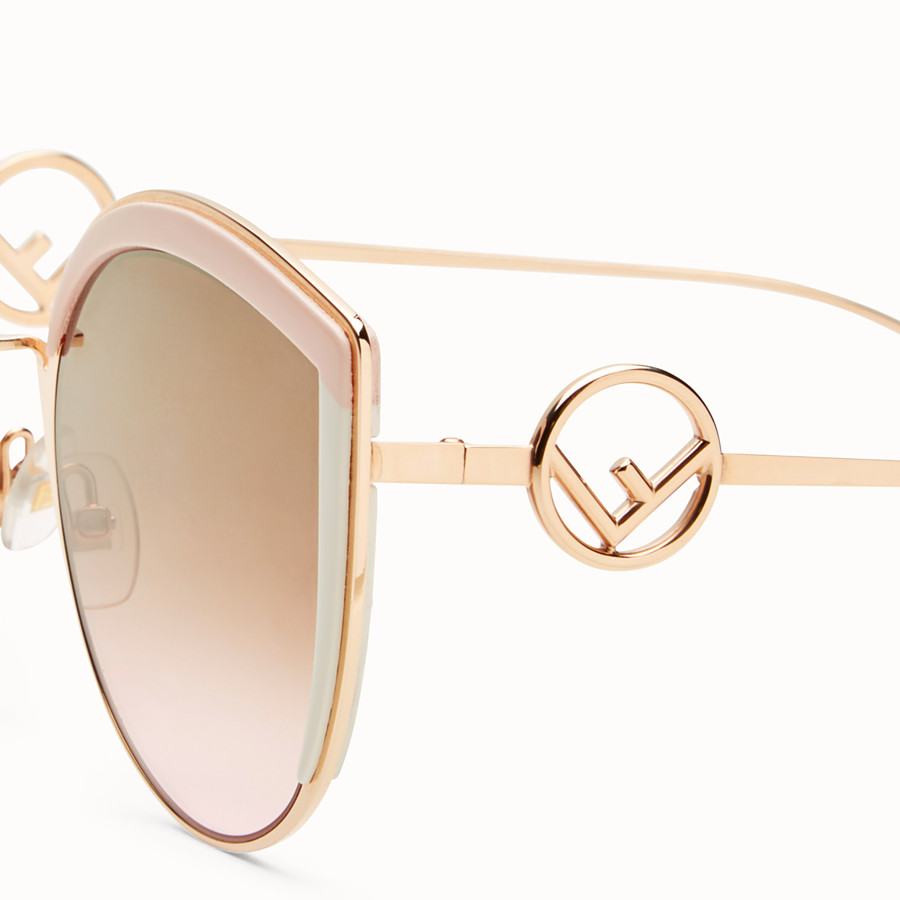 FENDI F IS FENDI - Copper-colour sunglasses - view 3 detail