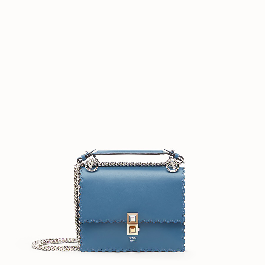 FENDI KAN I SMALL - Blue leather mini-bag - view 1 detail