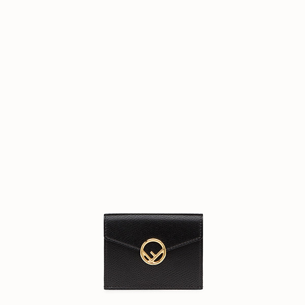 FENDI MICRO TRIFOLD - Black leather wallet - view 1 small thumbnail