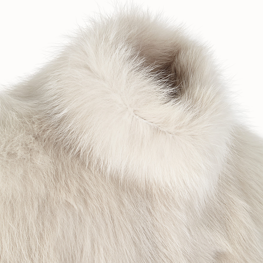 FENDI CAPE - White fur cape - view 3 detail