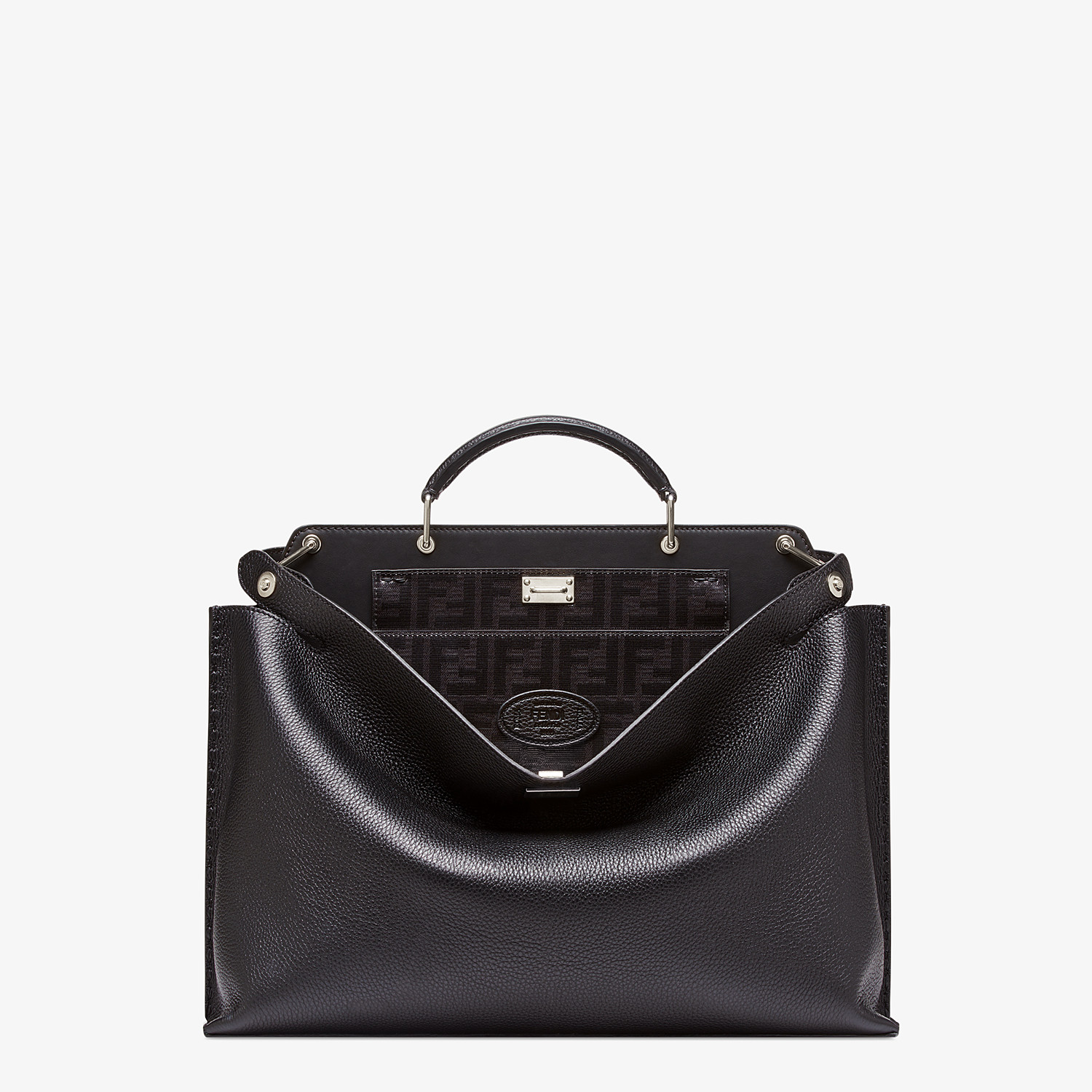 FENDI PEEKABOO ESSENTIAL - Black leather bag - view 1 detail