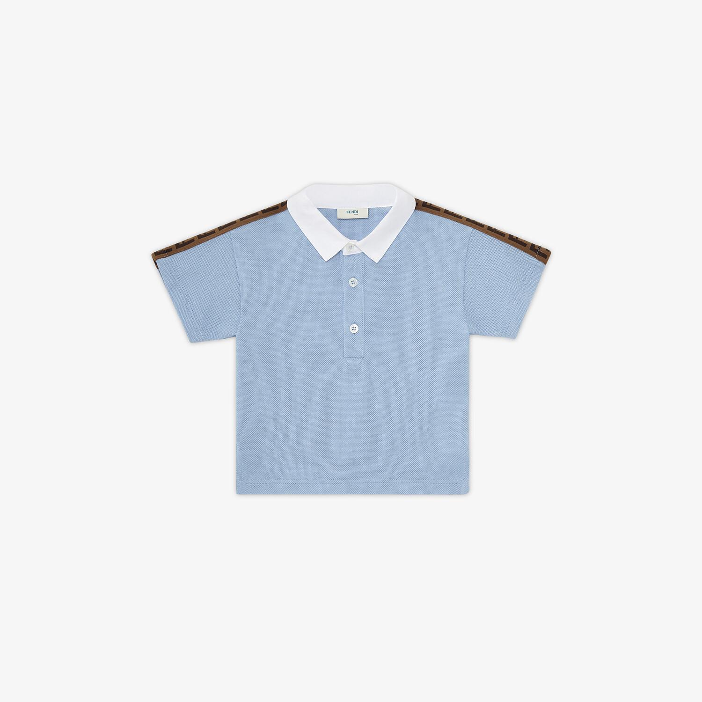 FENDI BABY POLO SHIRT - Piqué baby polo shirt - view 1 detail