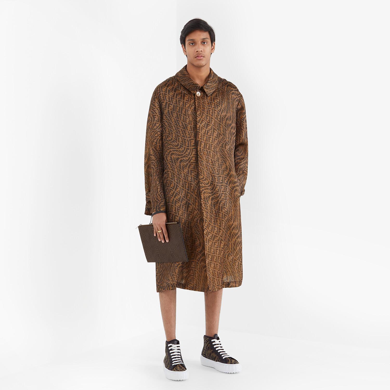 FENDI 風衣外套 - 棕色硬紗風衣外套 - view 5 detail