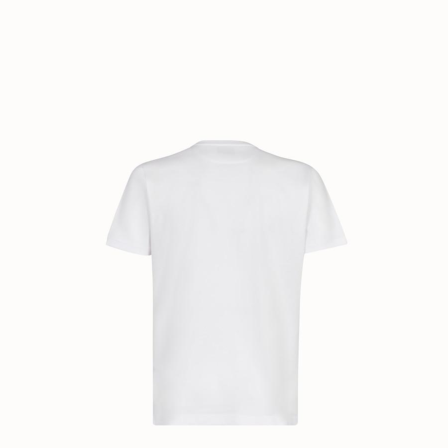 FENDI T-SHIRT - T-shirt in jersey bianco - vista 2 dettaglio