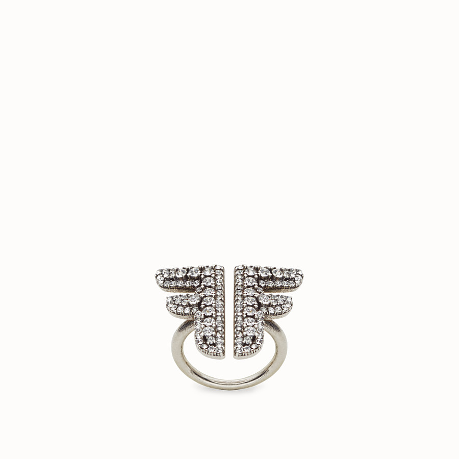 FENDI FFREEDOM RING - Palladium-coloured ring - view 1 detail