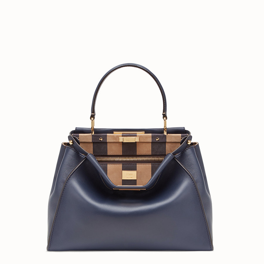 FENDI PEEKABOO ICONIC MEDIUM - Borsa in pelle blu - vista 1 dettaglio