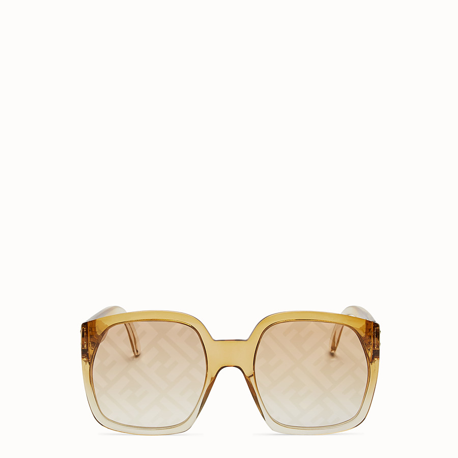 FENDI FENDI DAWN - Yellow sunglasses - view 1 detail