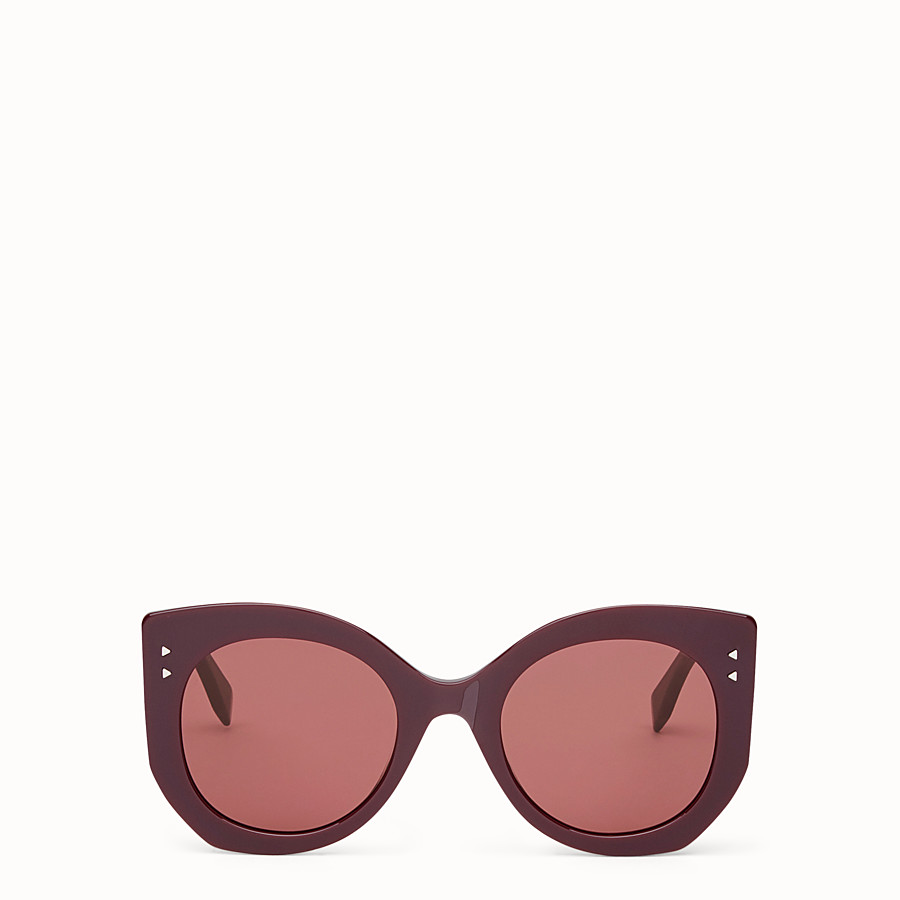 FENDI PEEKABOO - Burgundy sunglasses - view 1 detail