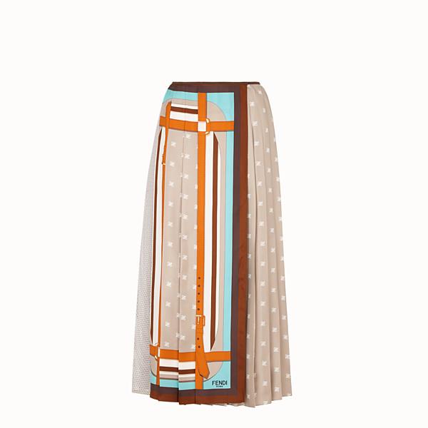 FENDI SKIRT - Beige silk skirt - view 1 small thumbnail