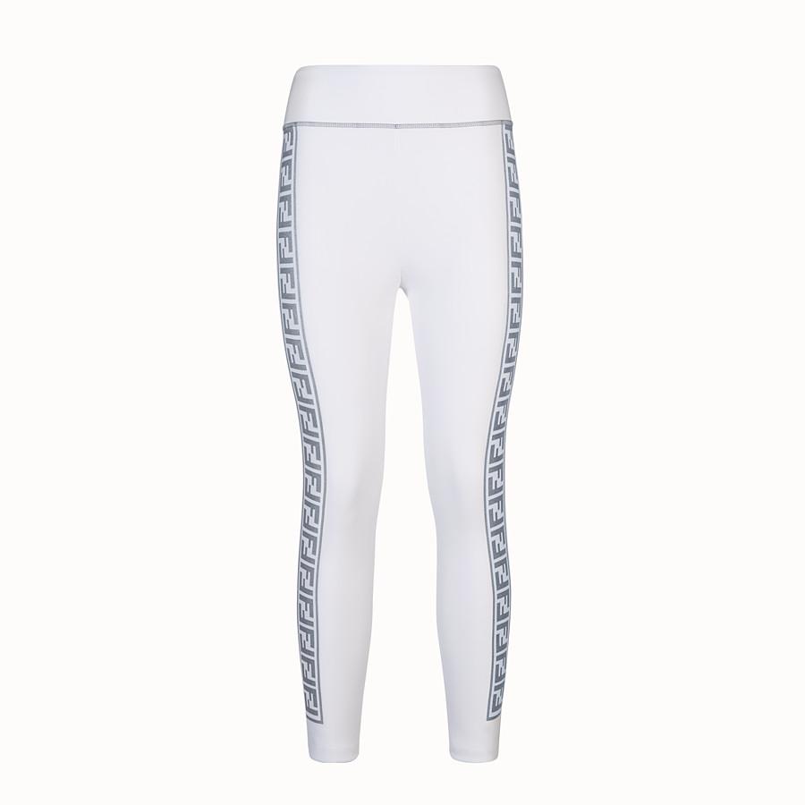 FENDI LEGGINGS - Leggings in tessuto stretch bianco - vista 1 dettaglio