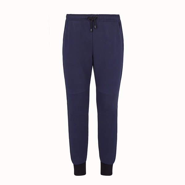 FENDI PANTS - Blue cotton pants - view 1 small thumbnail