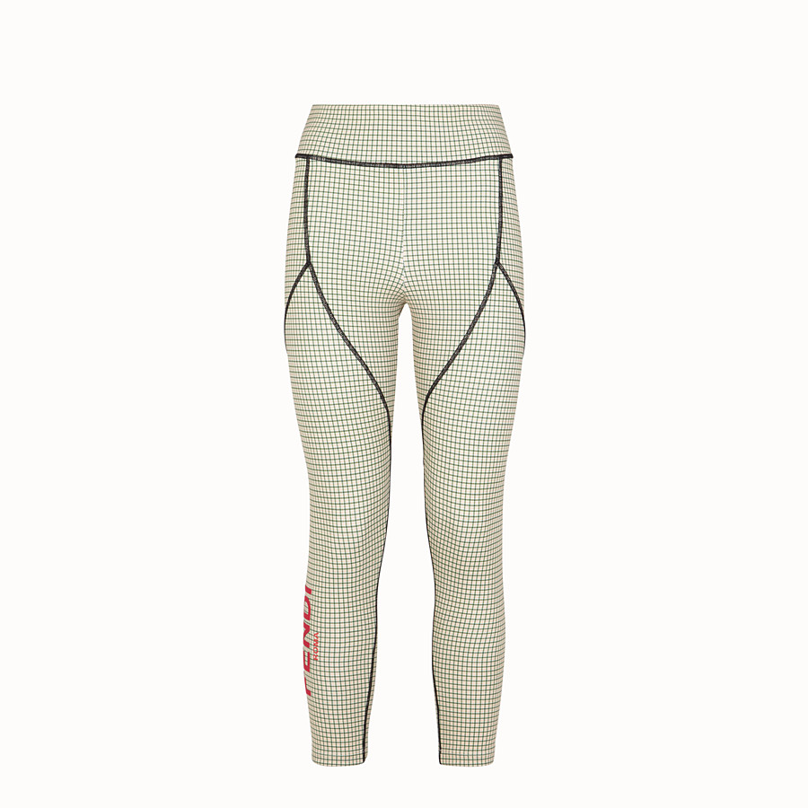 FENDI LEGGINGS - Multicolour tech fabric trousers - view 1 detail