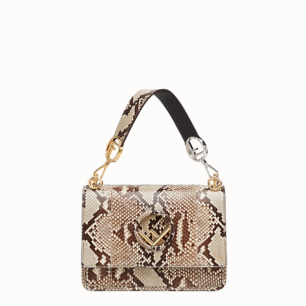 FENDI KAN I F - White python bag - view 1 small thumbnail