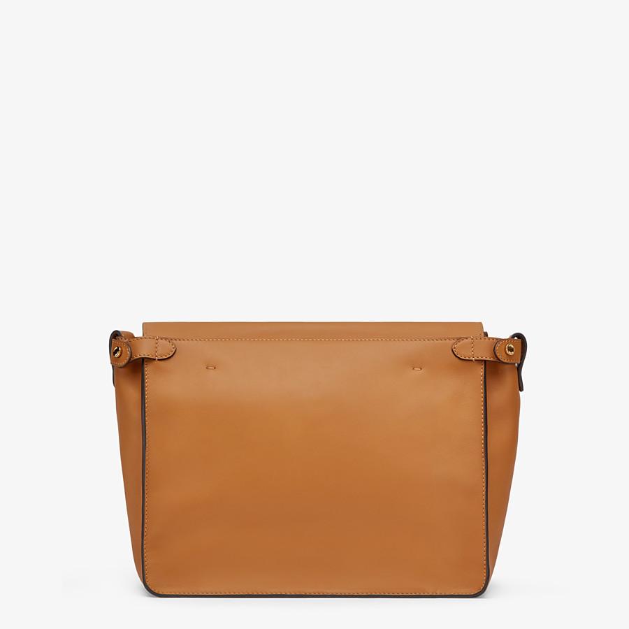 FENDI FENDI FLIP LARGE - Tasche aus Leder und Veloursleder in Braun - view 5 detail