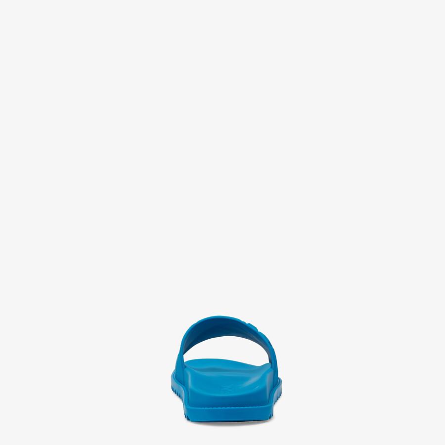 FENDI SLIDES - Blue rubber slides - view 3 detail