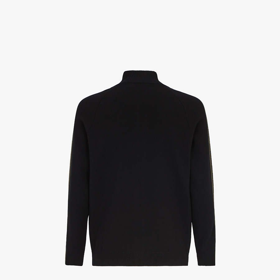 FENDI CARDIGAN - Black fabric sweater - view 2 detail