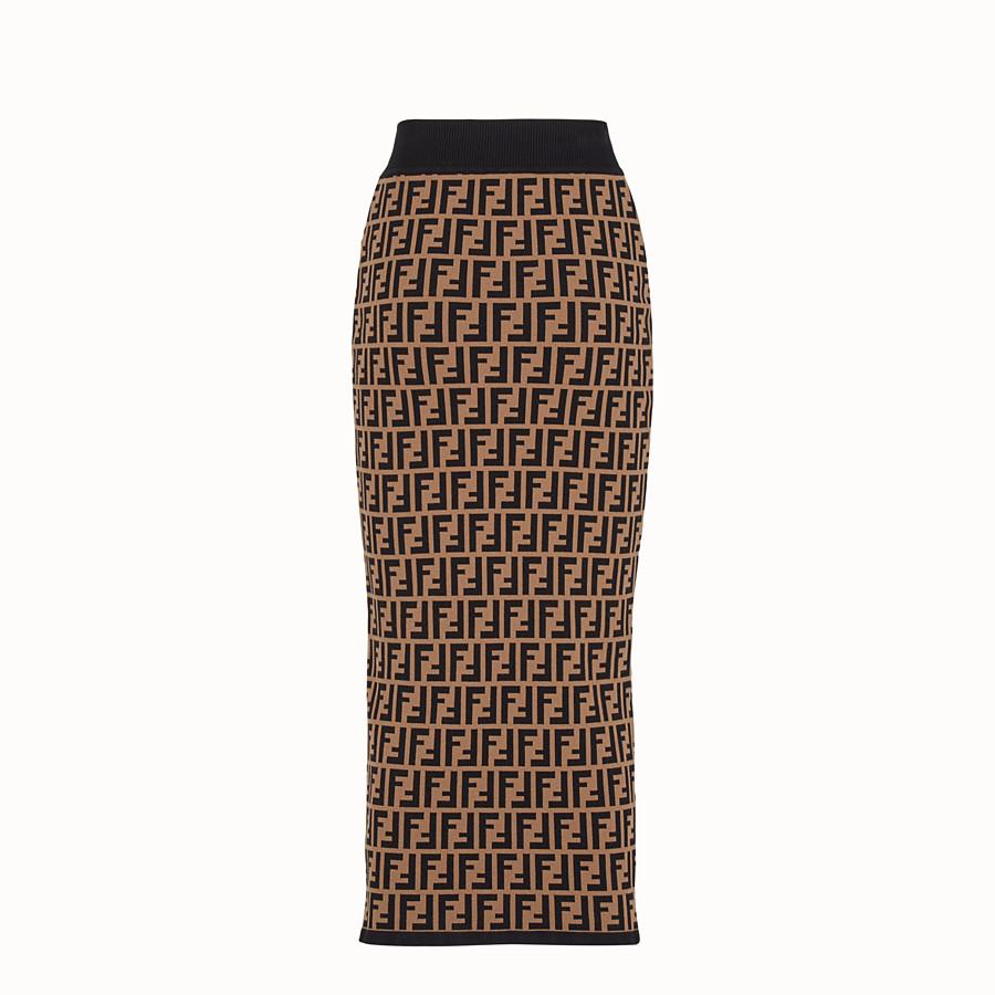 FENDI SKIRT - Multicolour fabric skirt - view 2 detail