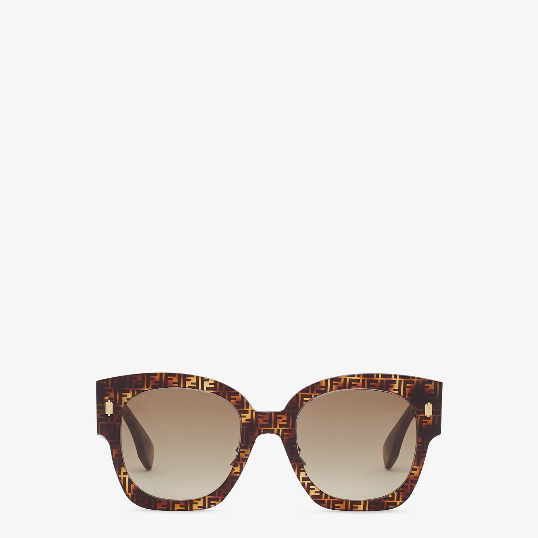 FENDI FENDI ROMA - FF Havana acetate sunglasses - view 1 detail