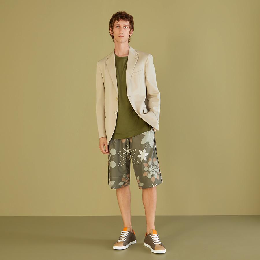 FENDI T-SHIRT - Green silk T-shirt - view 4 detail