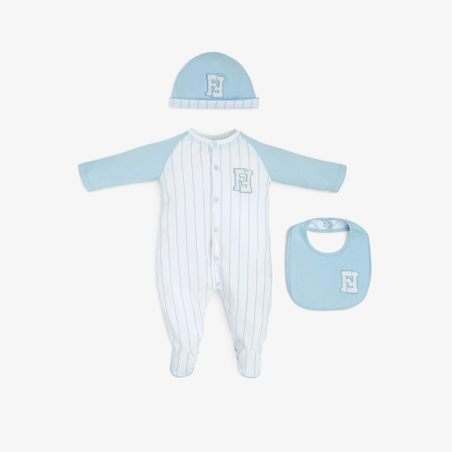 FENDI MATCHING OUTFIT FOR BABIES - White and blue jersey kit - view 1 detail