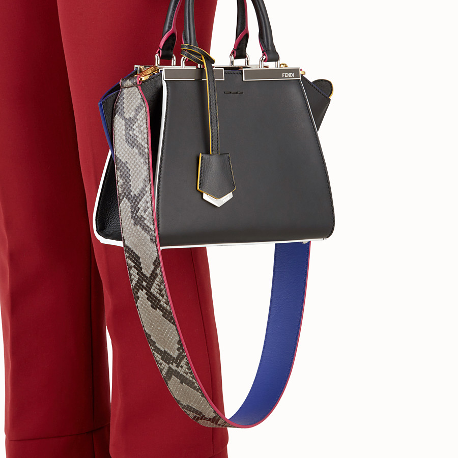 FENDI STRAP YOU - Interchangeable grey python skin shoulder strap - view 2 detail