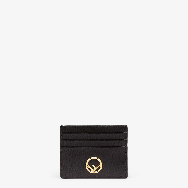FENDI CARD CASE - Flat black leather card holder - view 1 detail