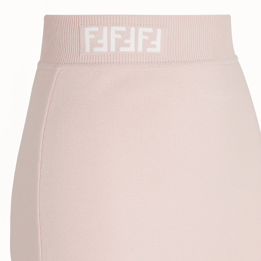 FENDI SKIRT - Pink fabric skirt - view 3 detail