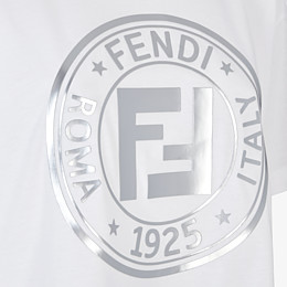 FENDI T-SHIRT - White jersey T-shirt - view 3 thumbnail