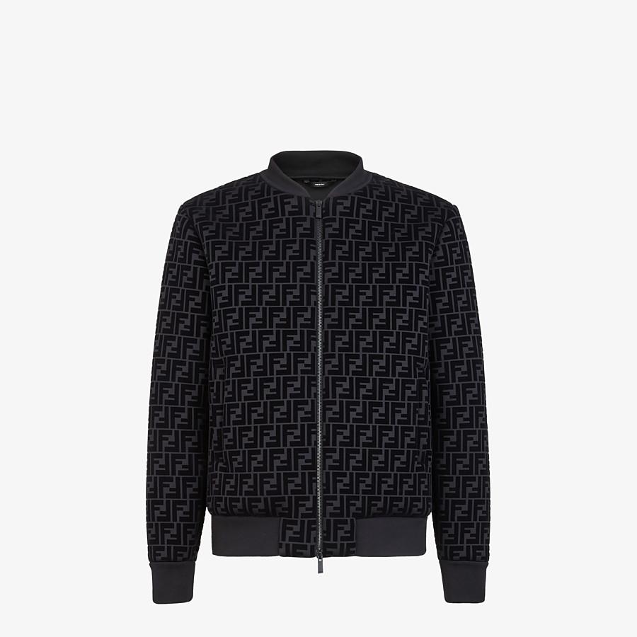 FENDI BLOUSON - Giacca in jersey nero - vista 1 dettaglio