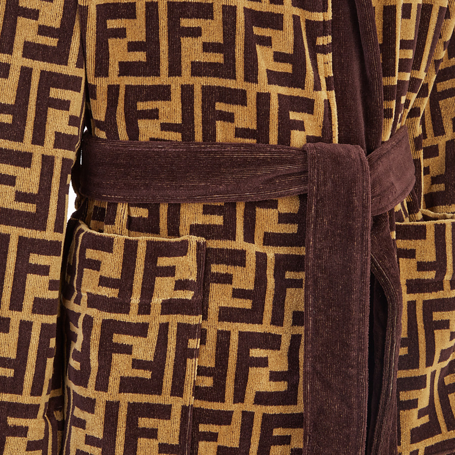 FENDI BATHROBE - Multicolour fabric bathrobe - view 3 detail