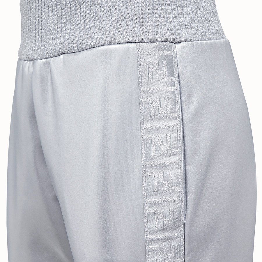 FENDI TROUSERS - Silver, tech fabric jogging trousers - view 3 detail