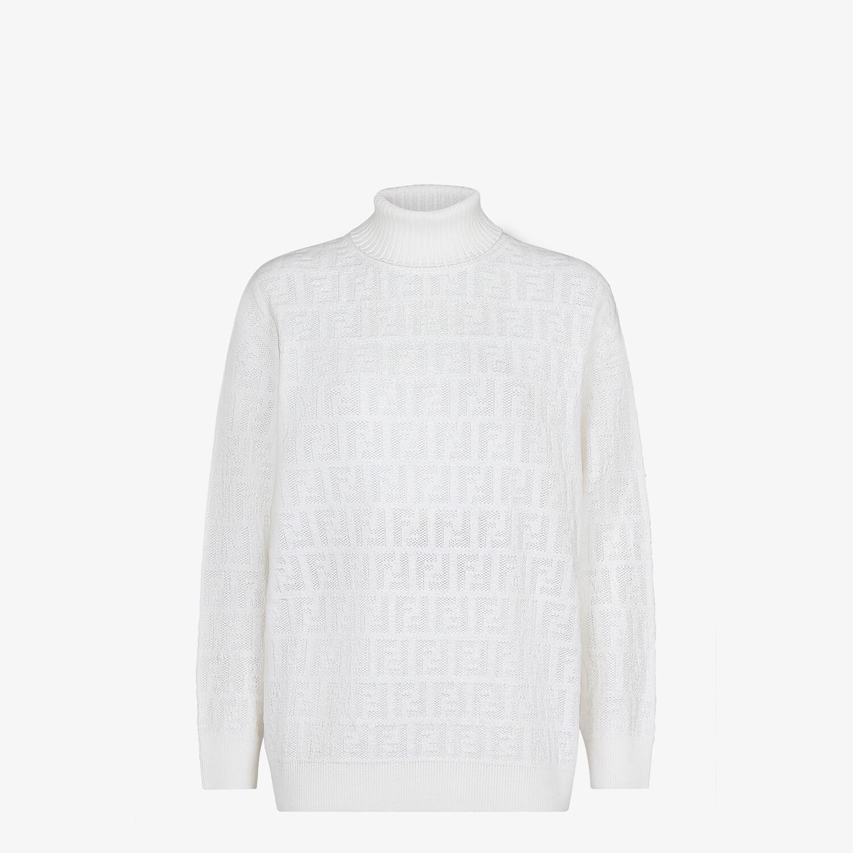 FENDI PULLOVER - Maglia in velluto bianco - vista 1 dettaglio