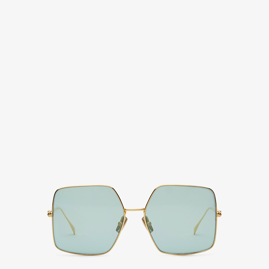 FENDI BAGUETTE - Gold-colored sunglasses - view 1 detail