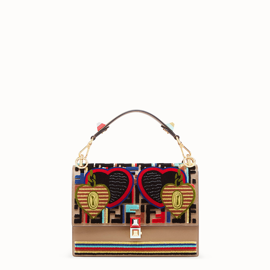 FENDI KAN I - Multicolor leather and fabric bag - view 1 detail