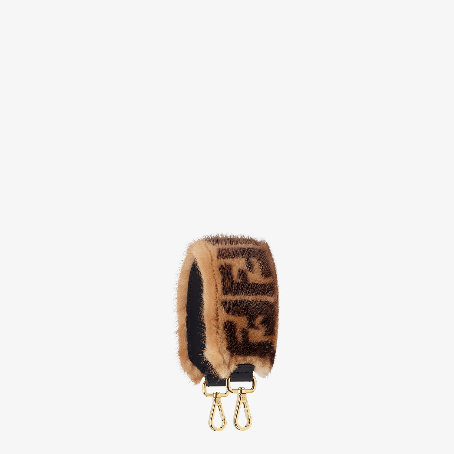 FENDI MINI STRAP YOU - Brown mink shoulder strap - view 1 detail