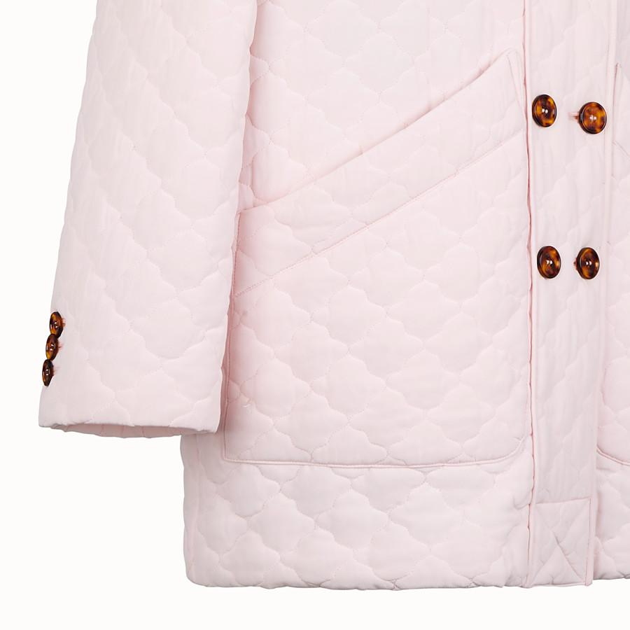 FENDI GIACCA - Giacca in crêpe de Chine trapuntato rosa - vista 3 dettaglio