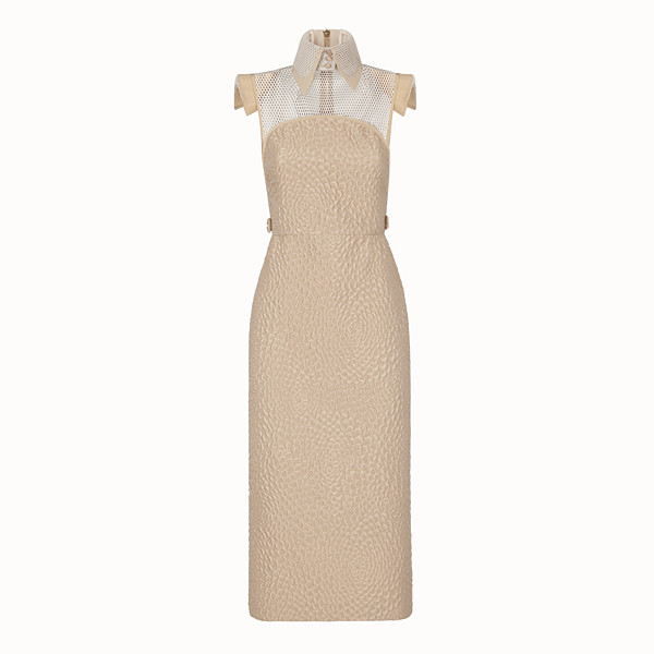 FENDI DRESS - Beige silk dress - view 1 small thumbnail