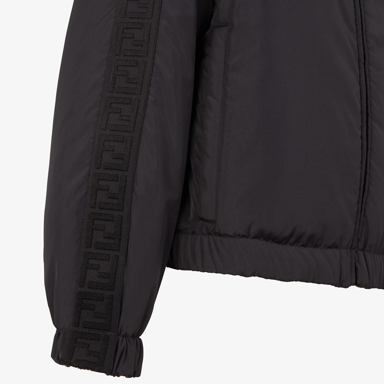 FENDI WINDBREAKER - Black nylon jacket - view 3 detail
